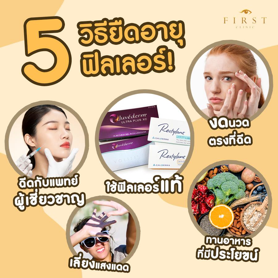 วิธียืดอายุฟิลเลอร์_FAQ Filler_First Clinic